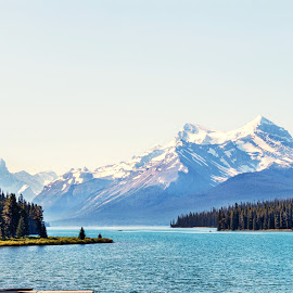 Maligne Lake  by Margie Troyer - Landscapes Waterscapes