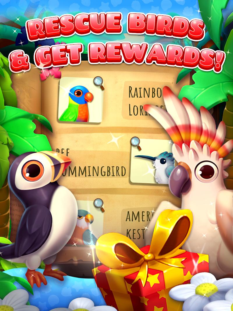 Скриншот Island Adventure - Bird Blast Match 3