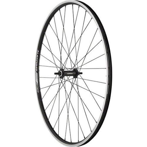 Quality Wheels Front Value Black 700c Bolt-On Alex DC19 Rim