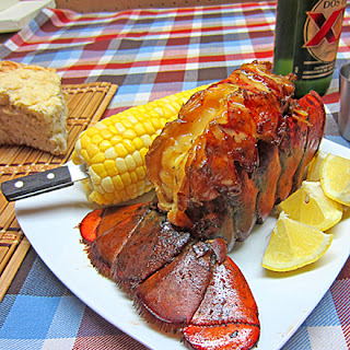 Apple Smoked Maine Lobster Tail.
