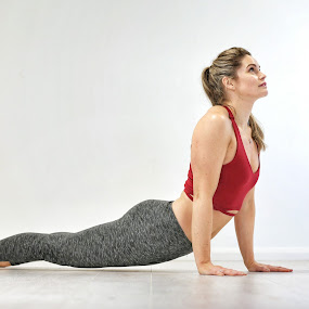 Upward Dog by Ben Rohleder - Sports & Fitness Fitness ( blonde, upwarddog, girl, fitness, stretch, yoga )