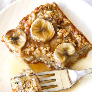 Banana Oat Bread Pudding.