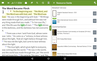 Screenshot of Bible+ by Olive Tree