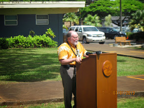 Photo: Governor Neil Abercrombie was one of our distinguished visitors who was delayed by a dirt spill on the freeway.  Everything turned out just fine; we started a little late, but we finished right on-time!
