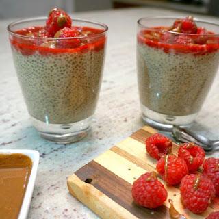 Chai Chia Pot with Raspberries