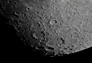 Photo: This is about a 200x zoom on the moon.