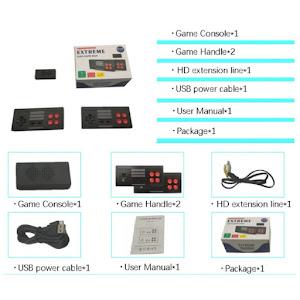Consola Retro 620 jocuri, AV, USB, 2 x controller