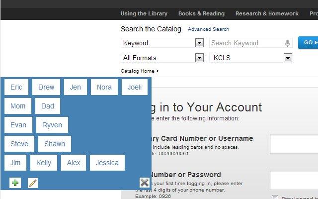 KCLS Library Helper