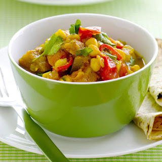 Microwave Chickpea and Eggplant Curry.