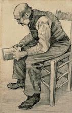 "Photo: Vincent Van Gogh, ""Vecchio in lettura"" (1882 ca.)"