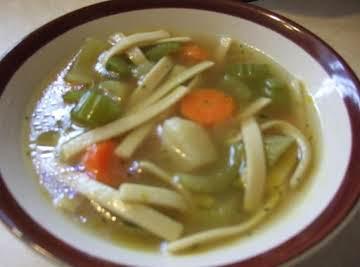 Mock Chicken Noodle Soup