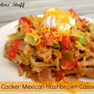 Slow Cooker Mexican Hashbrown Casserole.