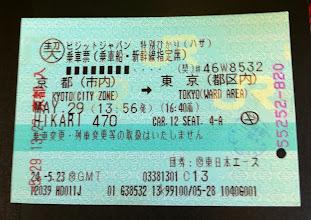 Photo: Shinkansen ticket