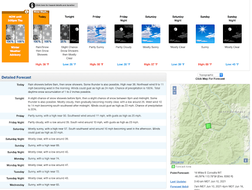 NOAA: Winter Weather Advisory Issued Above 5,000′ in Idaho and Montana | Upto 12″ Snow Possible