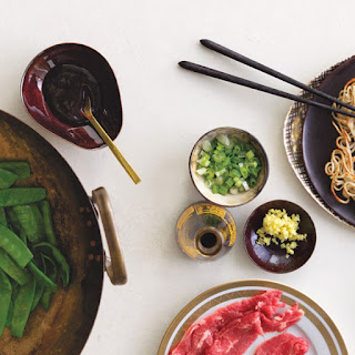 Beef and Snow Peas with Panfried Noodles