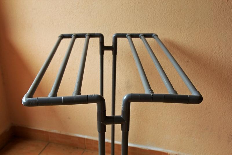 DIY ampaian tuala dari paip PVC
