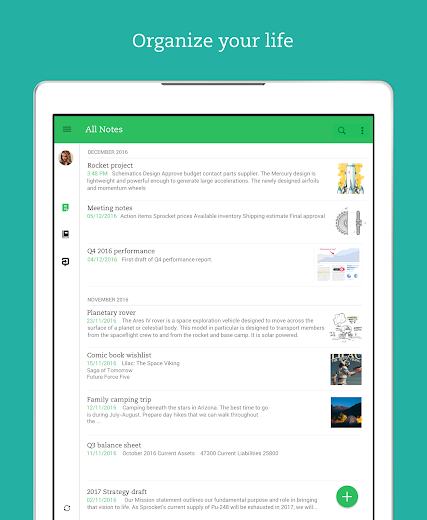 Screenshot 6 for Evernote's Android app'