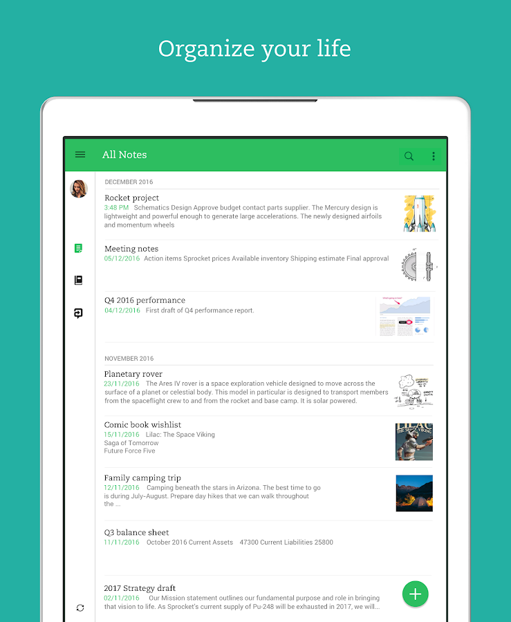 Evernote - stay organized.– снимак екрана