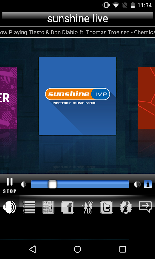 Radio sunshine live – Screenshot