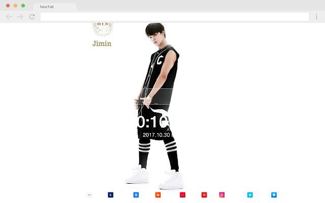 BTS Pop Star HD New Tabs Theme