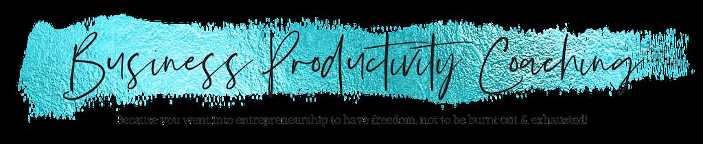 Business Productivity Coaching