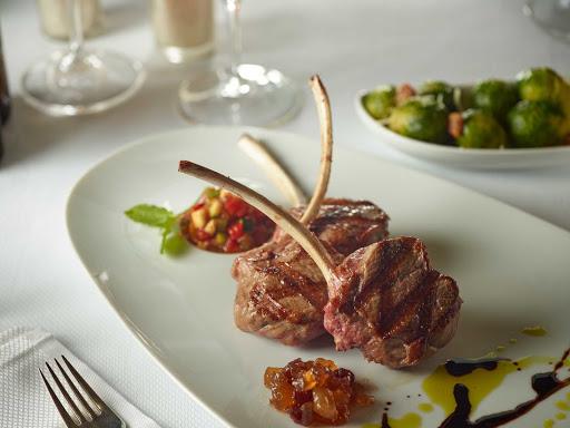 HAL-Pinnacle-Lamb-Chop.jpg - A lamb chop entrée at Holland America's Pinnacle Grill, one of the top restaurants at sea.