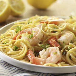 Lemon Spaghetti with Shrimp.