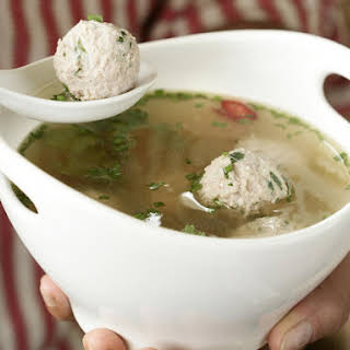 Asian Chicken and Dumpling Broth.