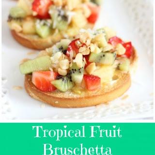 Tropical Bruschetta and Mango Curd.