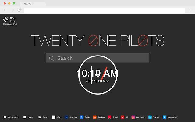 Twenty One Pilots New Tab HD Pop Bands Themes