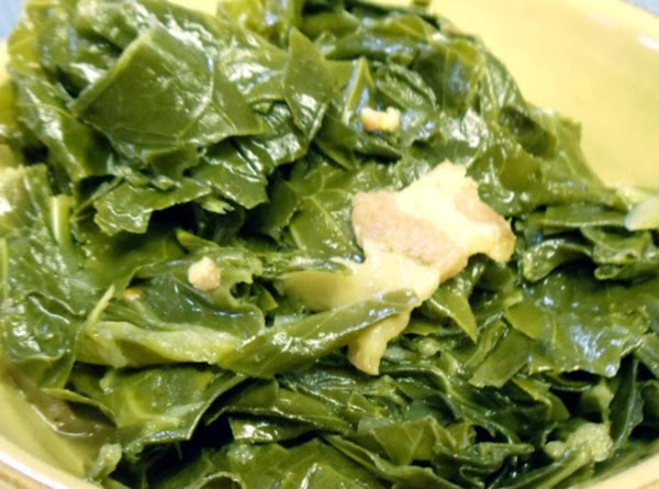 Reduce heat to simmer, and cook for 30 minutes, or until greens are tender....