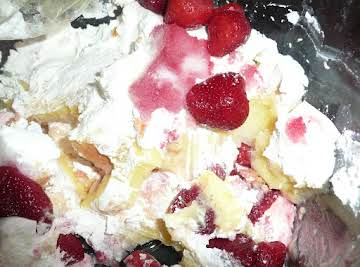 Easter Strawberry Angel Food Trifle