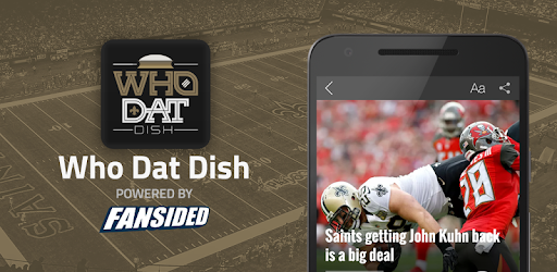 d00a8a6993f Who Dat Dish: News for New Orleans Saints Fans - Apps on Google ...