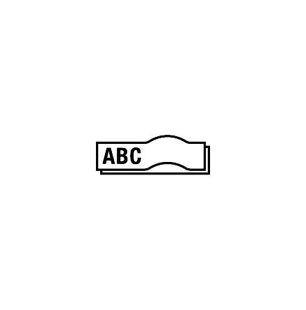 Märkband LetraTag plast    vit