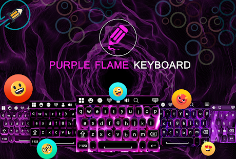 Purple Flame Keyboard - náhled