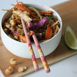 Soba Chicken Cashew Veggie Bowls