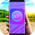 Thermometer for ambient temperature icon
