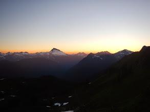 Photo: Sunset over Sloan Peak