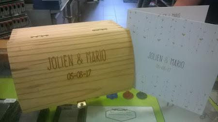 Kistjes en doosjes - herinneringsdoosje trouwfeest