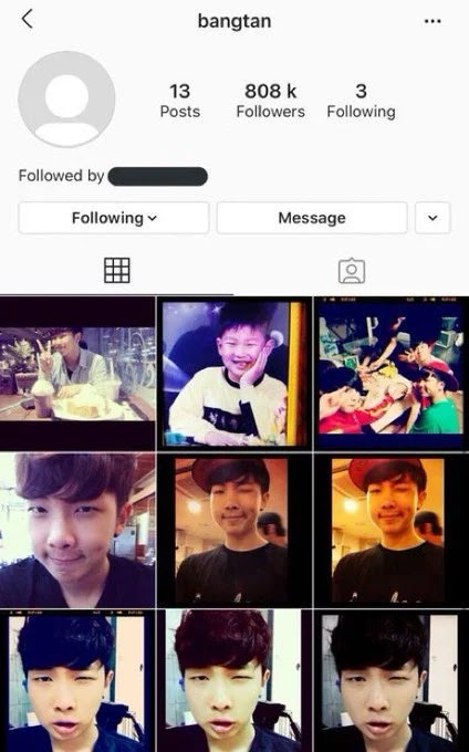 BTS activates their old instagram account after many years