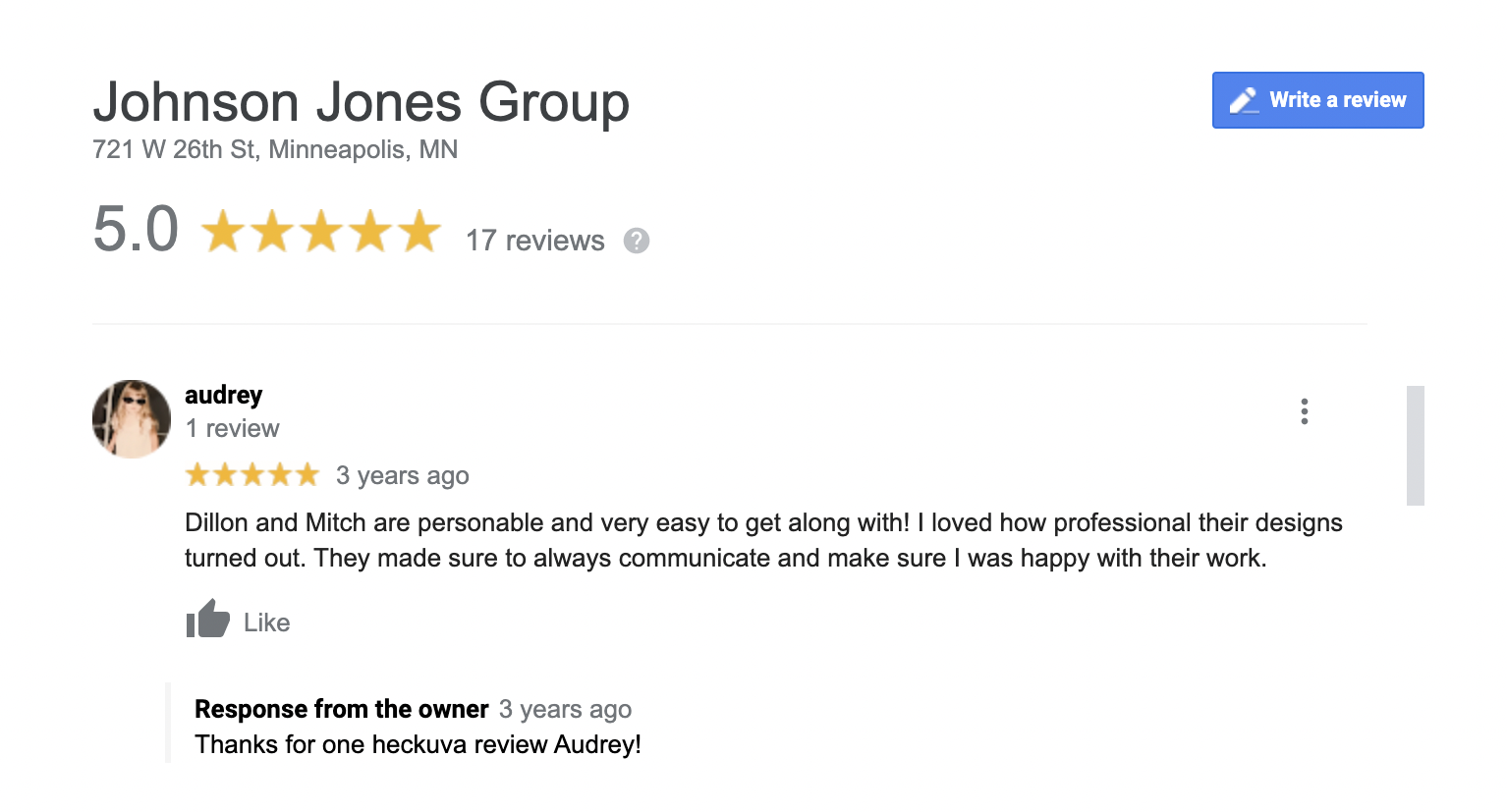 Reviews are key for SEO