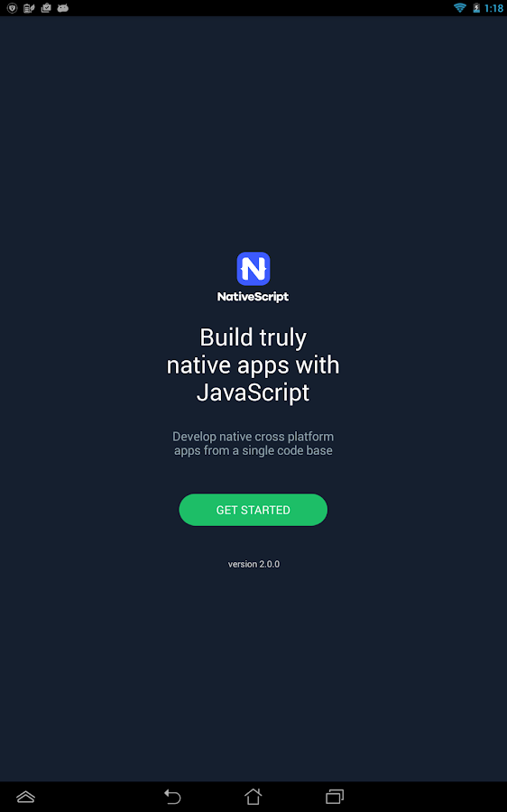 Examples NativeScript- screenshot