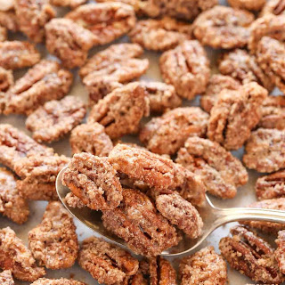 Homemade Candied Pecans.