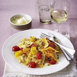 Sweet Potato Ravioli with Sautéed Tomatoes