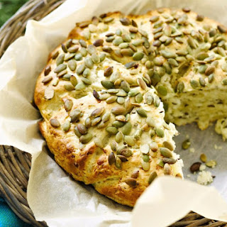 Pumpkin Seed Cheese Bread.