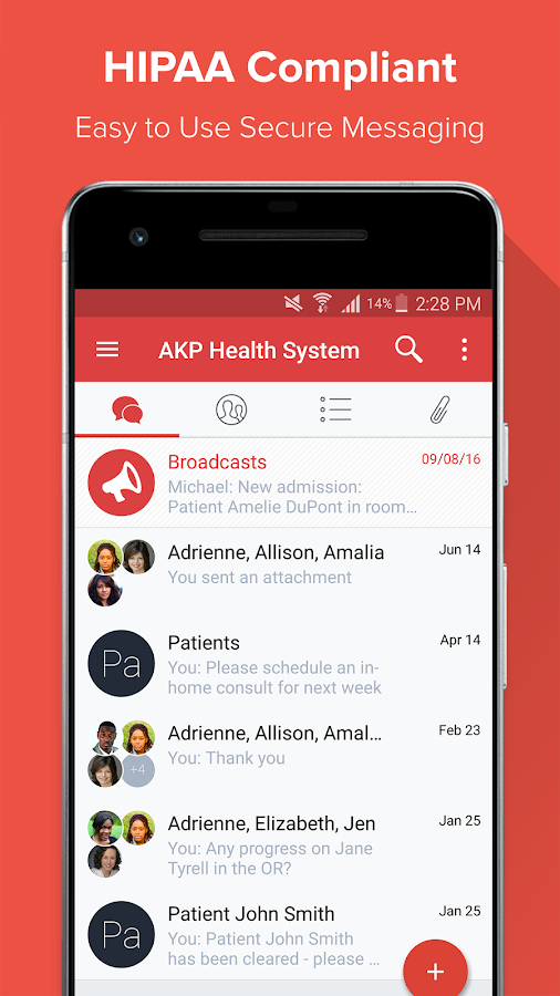 Lua HIPAA Compliant Messaging- screenshot