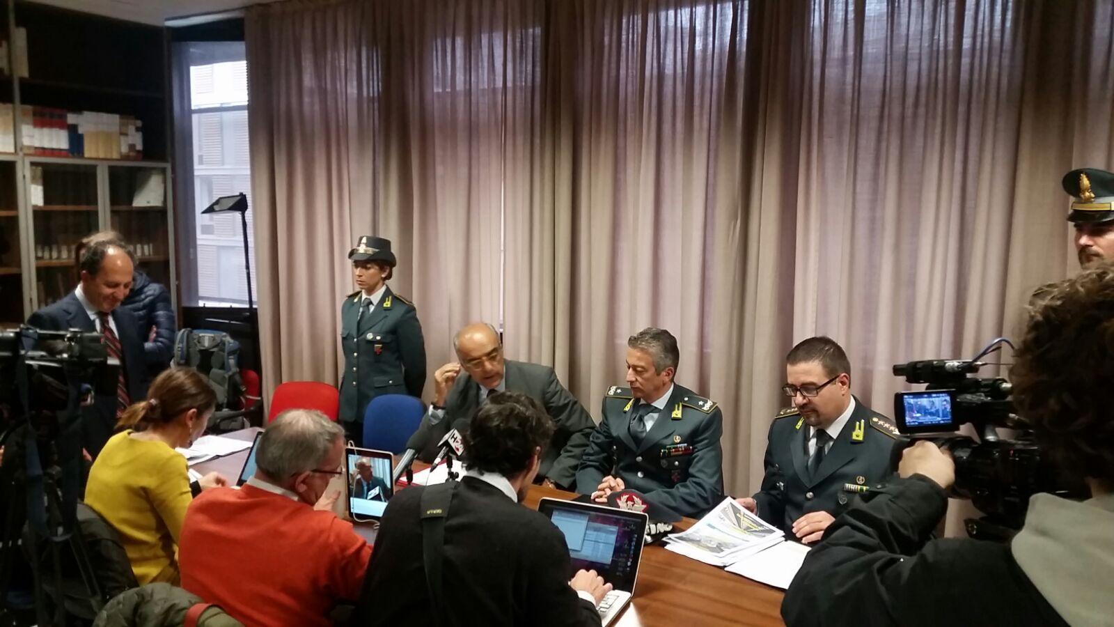 Conferenza stampa presso la Procura di Genova