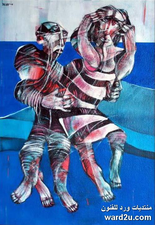 الرمزية فى اعمال الفنان السورى سعد يكن