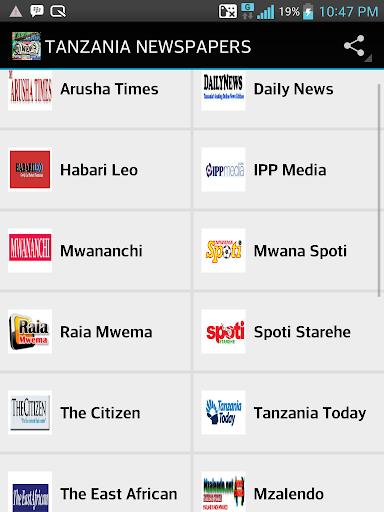 TANZANIA NEWSPAPERS