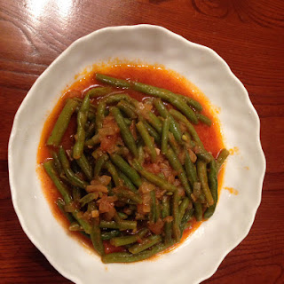 Green Beans With Tomato And Olive Oil – Fasulia